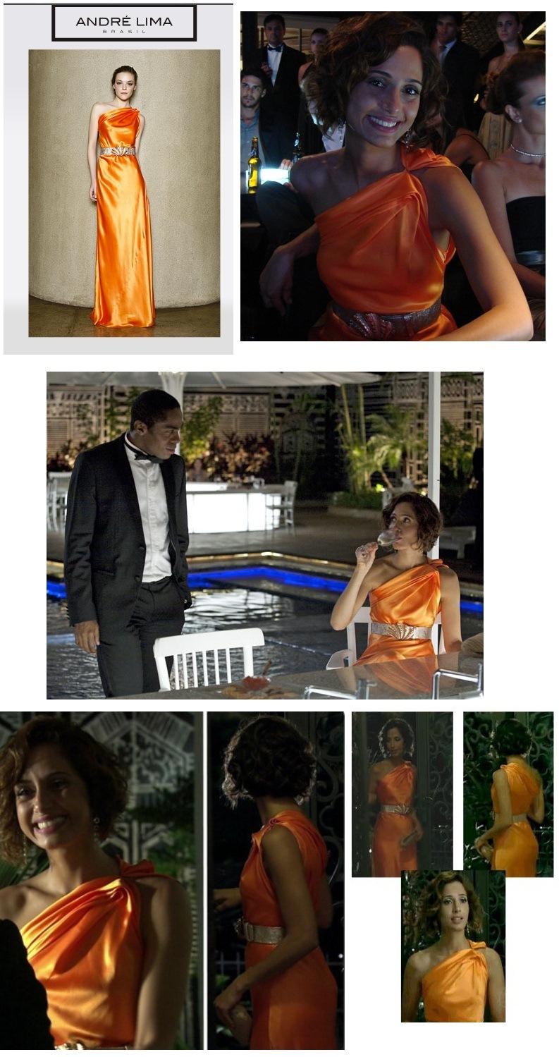 O vestido laranja do primeiro capítulo definiu com precisão o estilo da personagem.