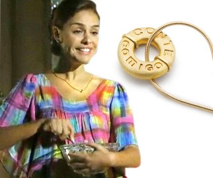 Paloma Bernardi e o Pingente Amizade em ouro 18k, do figurino de Alice