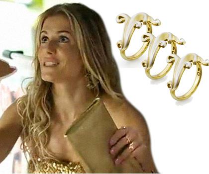 Para Natalie Lamour três não é demais! Anéis Ondina em prata 925 com pátina de ouro