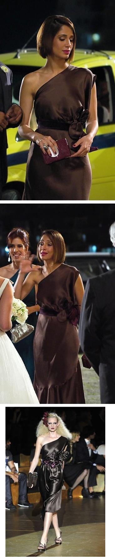 Dois momentos de Carol no casamento e na última imagem, foto do look no desfile de Marc Jacobs