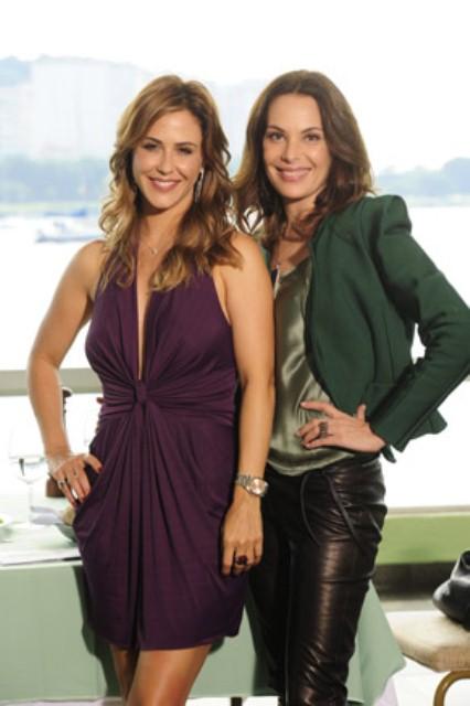 Girl Power: Amanda (Carolina Ferraz) e Beatriz (Guilhermina Guinle), melhores amigas na trama e no mega hair