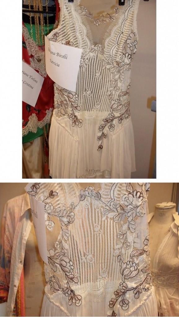 As rendas para confecção do vestido usado por Patrícia que fez tanto sucesso vieram do figurino de Capitu