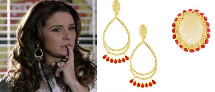 86ec836b82ef7 Brincos e anel de Helô ficam entre os acessórios mais pedidos na Globo