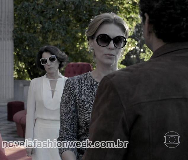 Óculos Patricia Pillar - Angela Mahler - com Pedroso - O Rebu