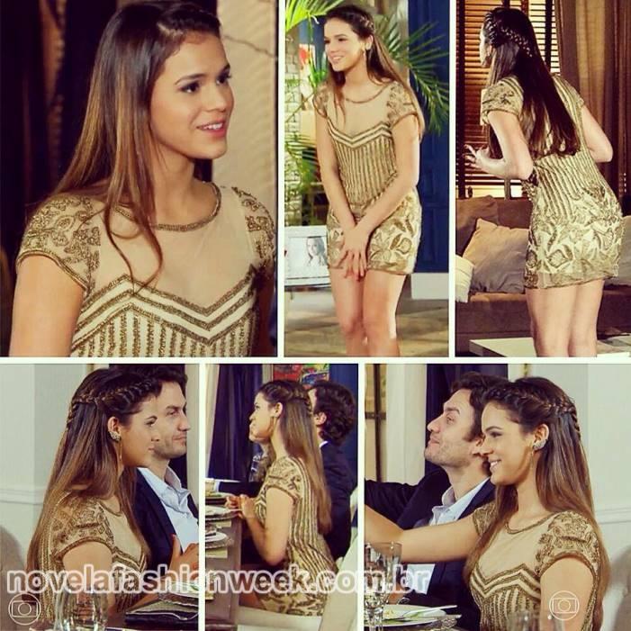 Vestido dourado Bruna Marquezine_Vários ângulos