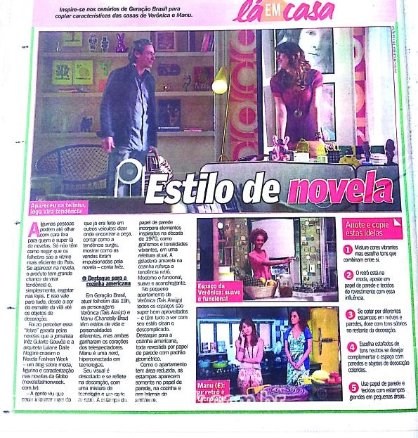 novela fashion week no DG - decoração nas novelas Geração Brasil