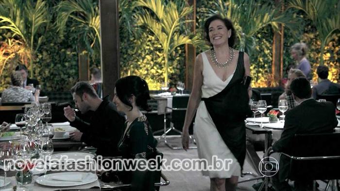 vestido lilia cabral preto e branco novela