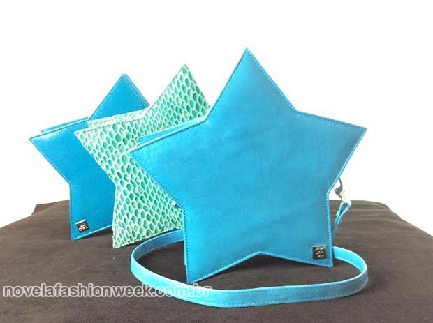 bolsa coraçao azul fedora