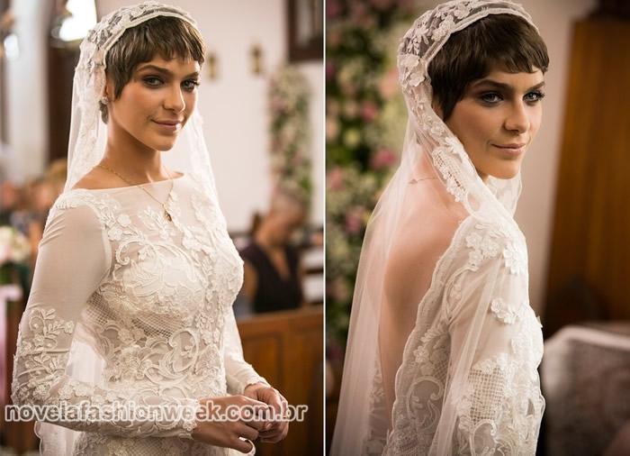leticia isabella santoni a lei do amor casamento novela