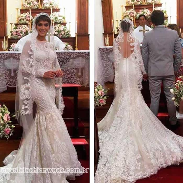 vestido de noiva de leticia a lei do amor