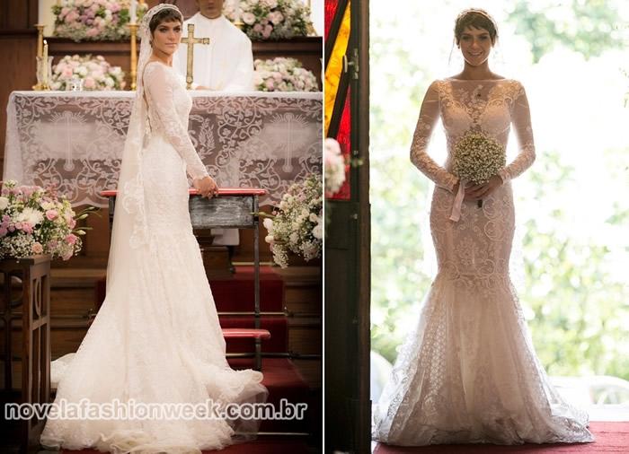 vestido sereia casamento leticia a lei do amor